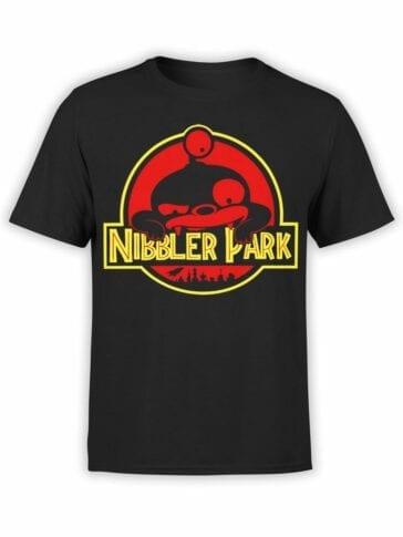 1332 Futurama T Shirt Nibbler Park Front