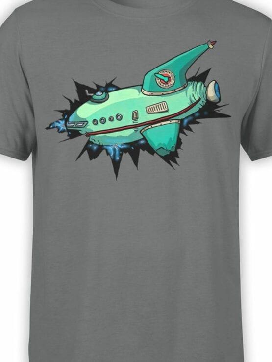 1333 Futurama T Shirt Ship Front Color