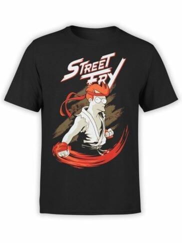 1335 Futurama T Shirt Street Fry Front