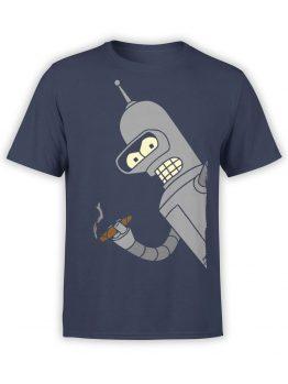 1337 Futurama T Shirt Bender Bending Rodríguez Front