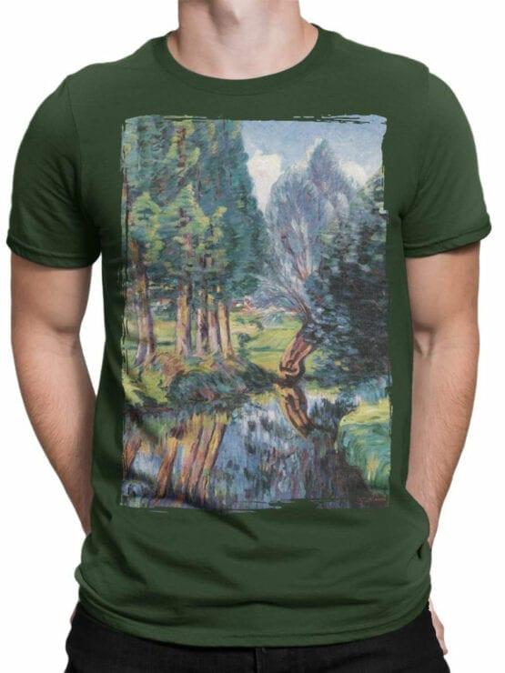 1343 Armand Guillaumin T Shirt Landscape at Breuillet Front Man