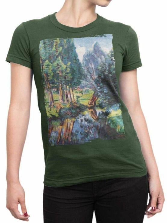 1343 Armand Guillaumin T Shirt Landscape at Breuillet Front Woman