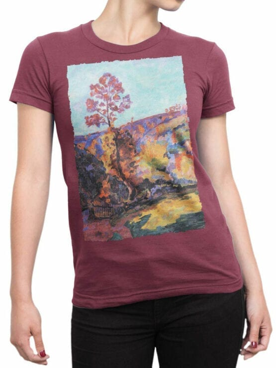 1344 Armand Guillaumin T Shirt Landscape at Crozant Front Woman