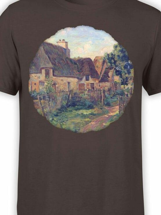 1345 Armand Guillaumin T Shirt Landscape of Ile de France Front Color
