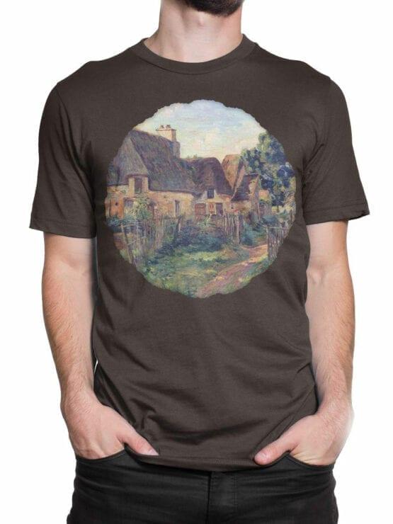 1345 Armand Guillaumin T Shirt Landscape of Ile de France Front Man 2