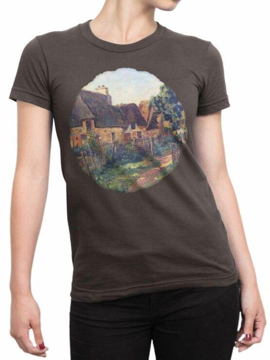 1345 Armand Guillaumin T Shirt Landscape of Ile de France Front Woman
