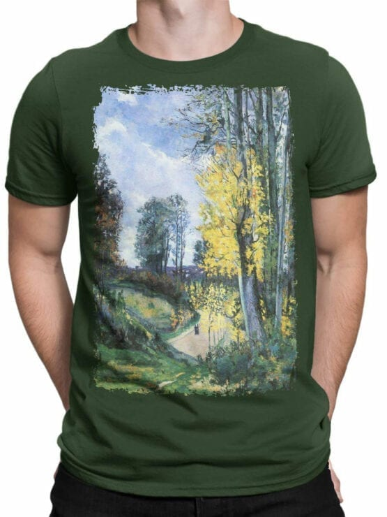 1348 Armand Guillaumin T Shirt Tall Trees in Autumn Front Man