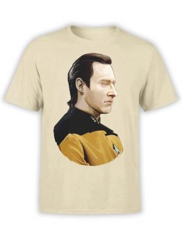 1351 Star Trek T Shirt Data Front