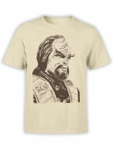 1353 Star Trek T Shirt Worf Front