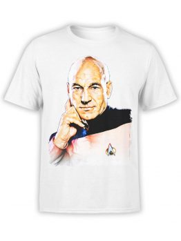 1356 Star Trek T Shirt Picard Front