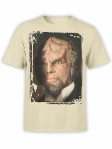 1357 Star Trek T Shirt Worf Portrait Front