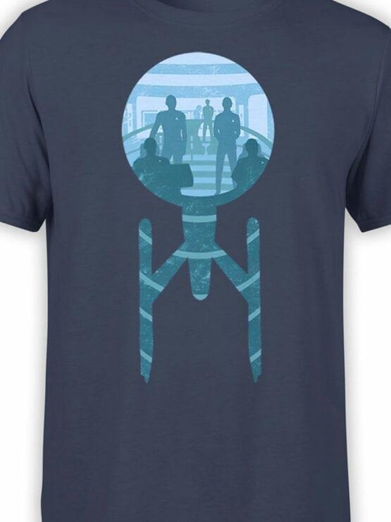 1358 Star Trek T Shirt Ship Front Color