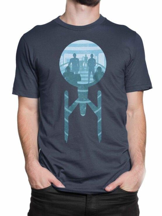 1358 Star Trek T Shirt Ship Front Man 2