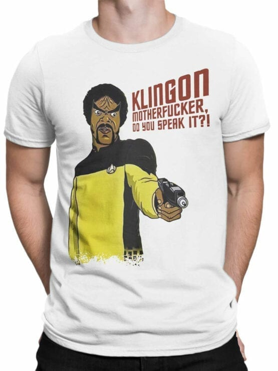 1360 Star Trek T Shirt Klingon Front Man
