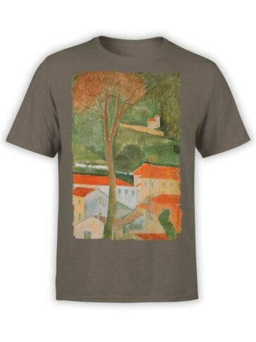 1364 Amedeo Modigliani T Shirt Landscape Front