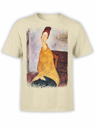 1369 Amedeo Modigliani T Shirt Portrait de Jeanne Hebuterne Front