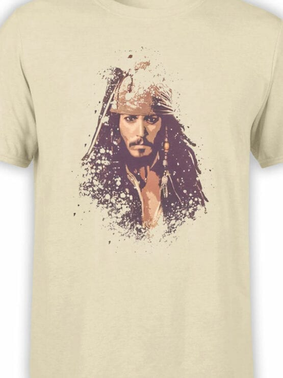 1371 Pirates of the Caribbean T Shirt Jack Front Color