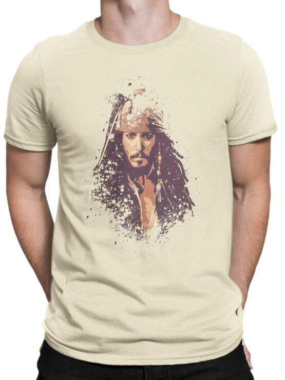 1371 Pirates of the Caribbean T Shirt Jack Front Man