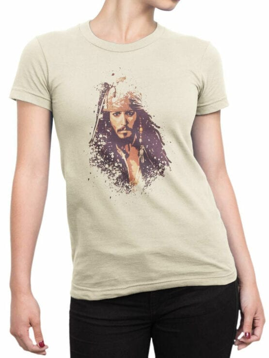 1371 Pirates of the Caribbean T Shirt Jack Front Woman