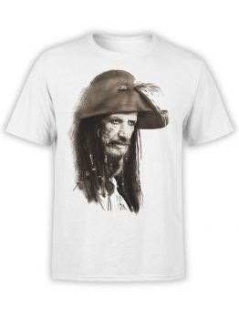 1372 Pirates of the Caribbean T Shirt Captain Teague Front