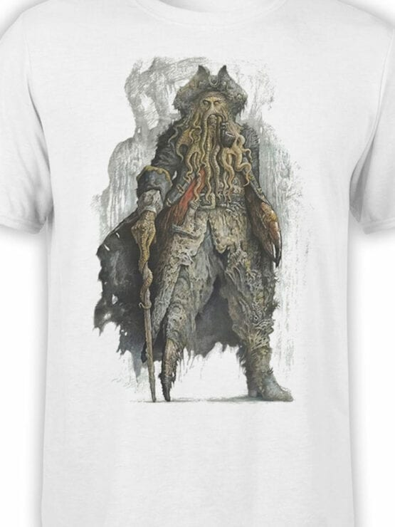 1374 Pirates of the Caribbean T Shirt Davy Jones Front Color