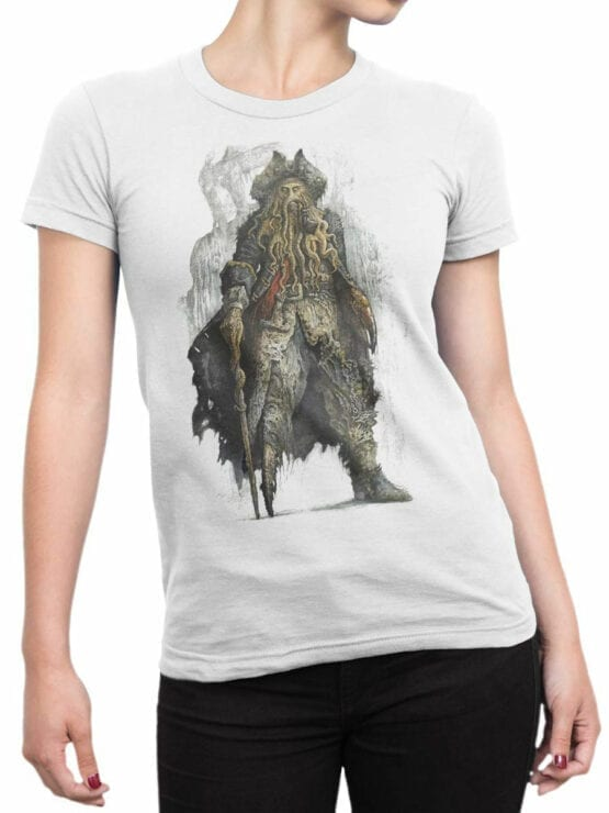 1374 Pirates of the Caribbean T Shirt Davy Jones Front Woman