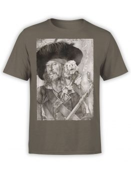 1375 Pirates of the Caribbean T Shirt Barbossa Front