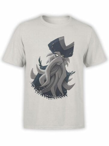 1376 Pirates of the Caribbean T Shirt Cute Davy Jones Front