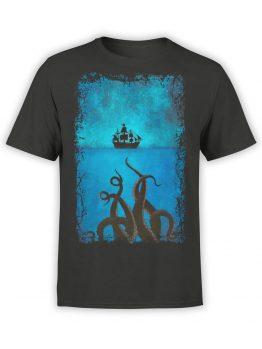 1377 Pirates of the Caribbean T Shirt Kraken Front