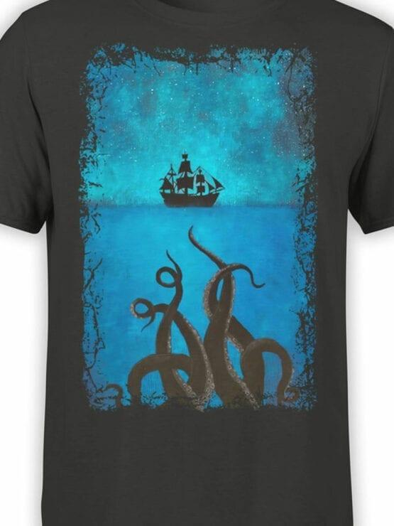 1377 Pirates of the Caribbean T Shirt Kraken Front Color