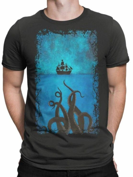 1377 Pirates of the Caribbean T Shirt Kraken Front Man