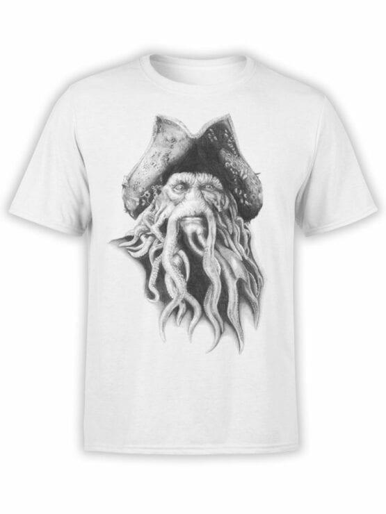 1379 Pirates of the Caribbean T Shirt Davy Jones Front