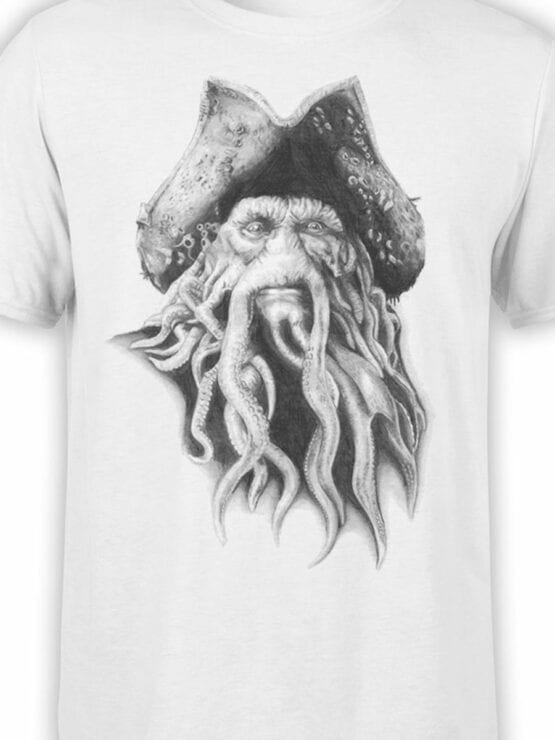 1379 Pirates of the Caribbean T Shirt Davy Jones Front Color