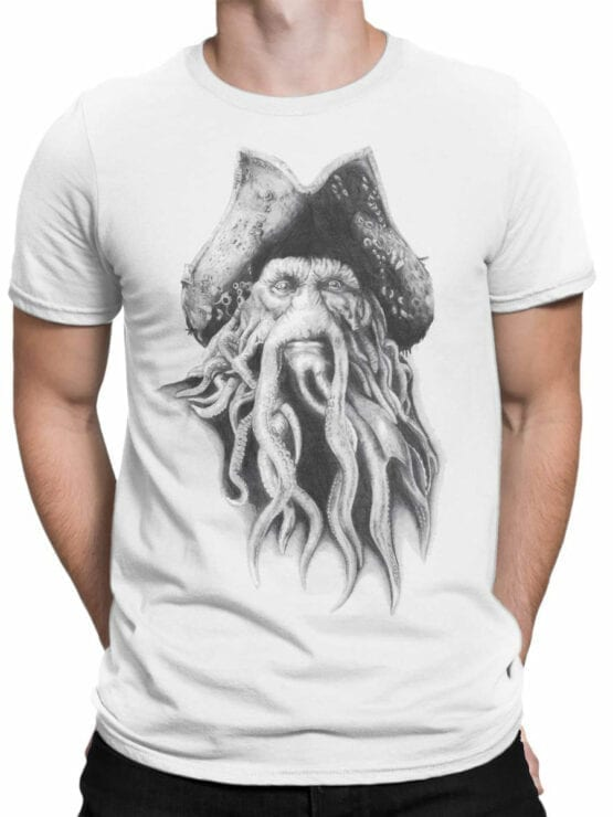 1379 Pirates of the Caribbean T Shirt Davy Jones Front Man