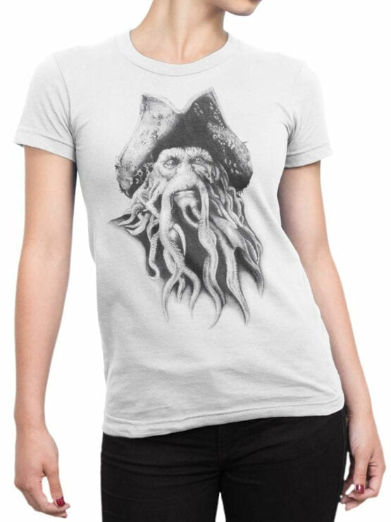 1379 Pirates of the Caribbean T Shirt Davy Jones Front Woman