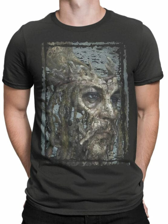 1380 Pirates of the Caribbean T Shirt Dead Jack Front Man