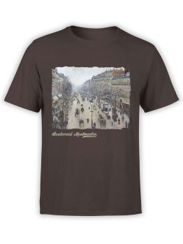 1382 Camille Pissarro T Shirt Boulevard Montmartre Morning Front