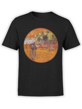 1383 Camille Pissarro T Shirt Cowherds Bazincourt Front