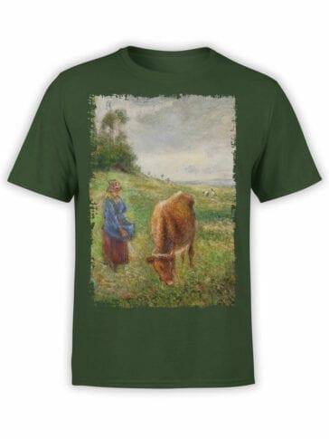 1385 Camille Pissarro T Shirt Cowherd Pontoise Front