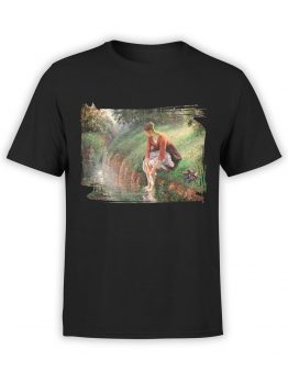 1387 Camille Pissarro T Shirt Young Woman Bathing Her Feet Front