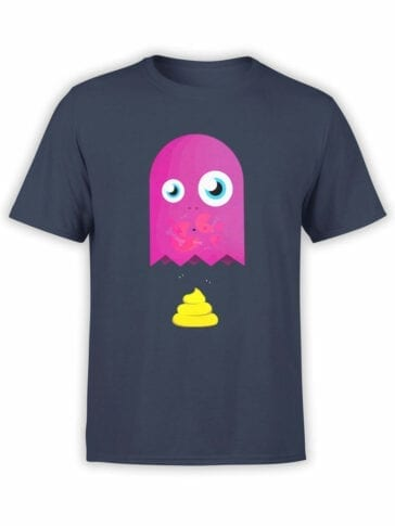 1392 Pac Man T Shirt Poop Front