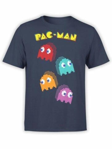 1394 Pac Man T Shirt Pixels Front