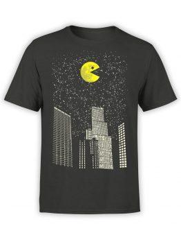1398 Pac Man T Shirt City Front