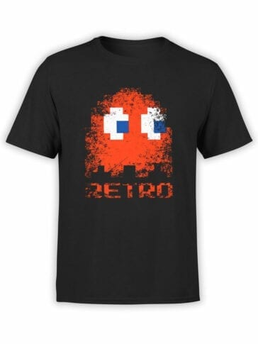 1399 Pac Man T Shirt Retro Front