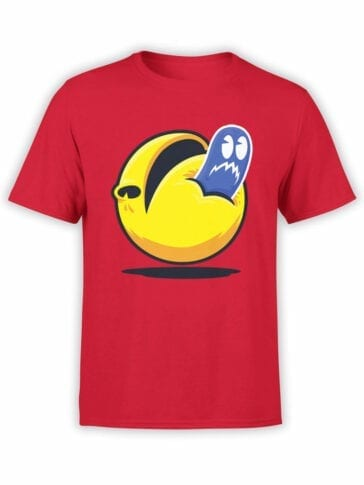 1400 Pac Man T Shirt Spirit Front