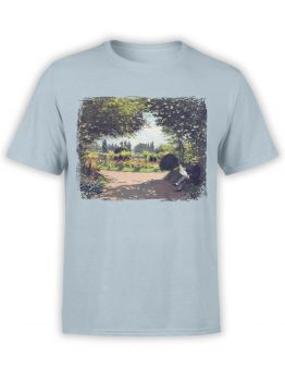 1401 Claude Monet T Shirt Reading in the Garden Front
