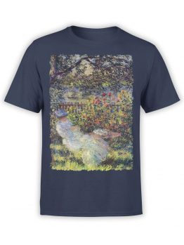 1402 Claude Monet T Shirt Alice Hoschede in the Garden Front
