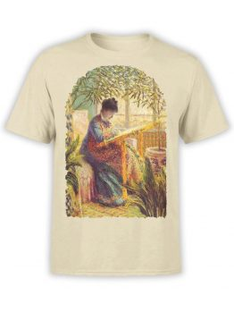 1407 Claude Monet T Shirt Camille Embroidering Front