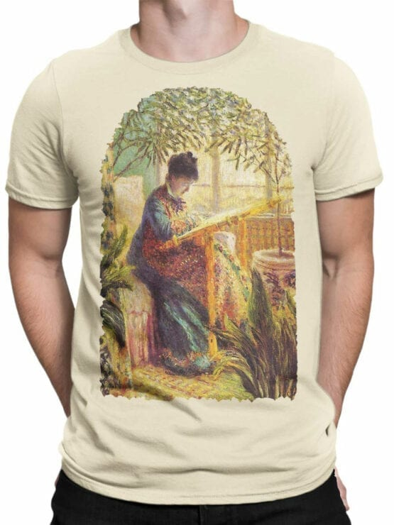 1407 Claude Monet T Shirt Camille Embroidering Front Man