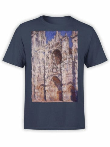 1409 Claude Monet T Shirt Rouen Cathedral Front